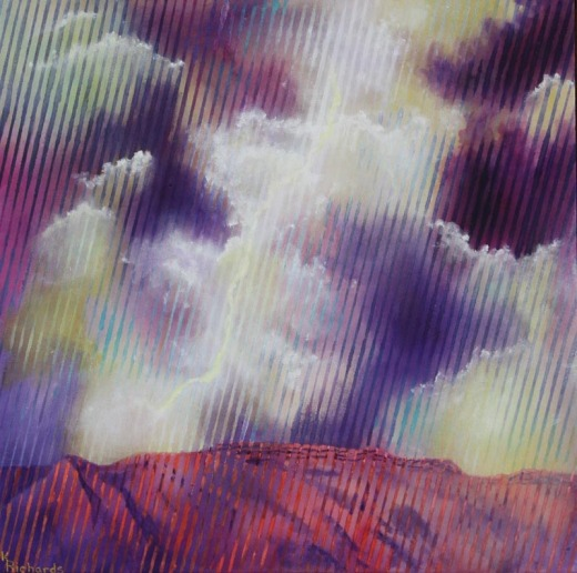 Lightning in the Sandias by A'RTist Kay Richards