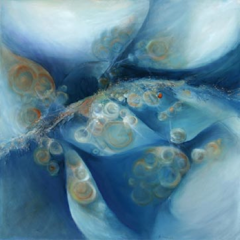 Blue Bubbles by Barbara Nahler
