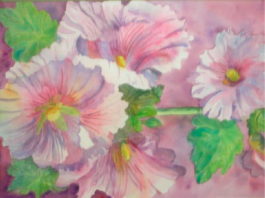 Hollyhocks by Eloise Rogers