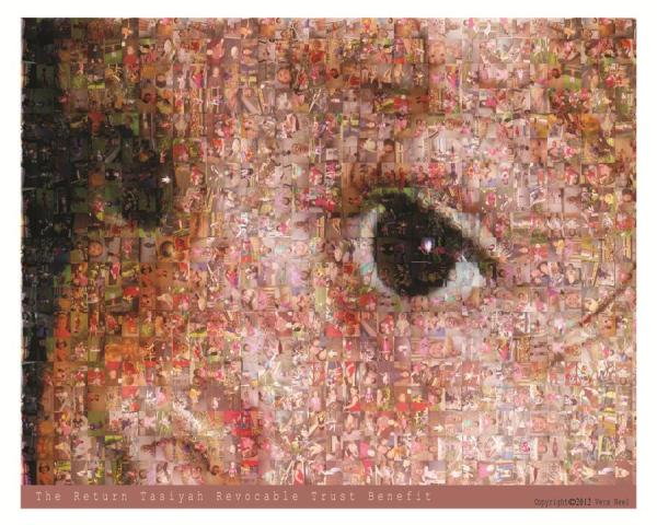 Mosaic image of childs face